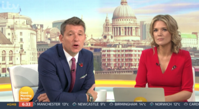Ben Shephard apologises for not wearing mask
