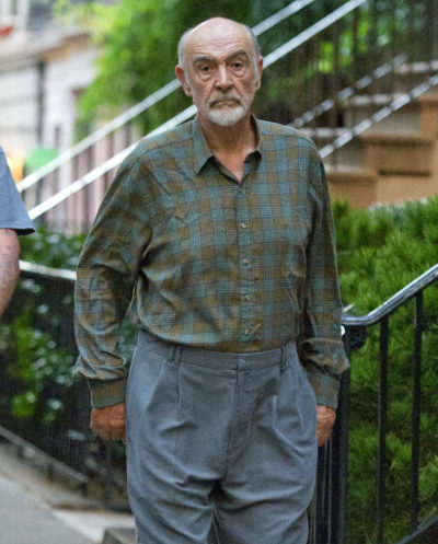 Sean Connery out walking