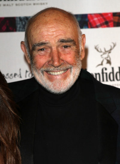 Actor Sean Connery smiling on the red carpet