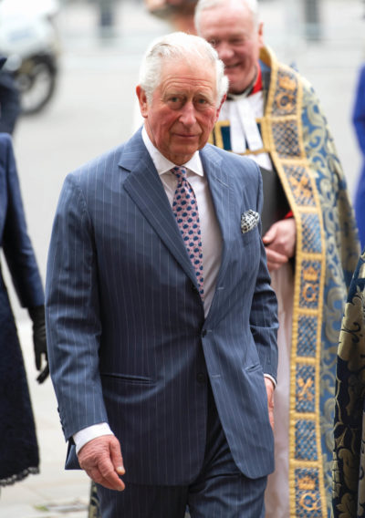 Prince Charles arriving at a royal engagement