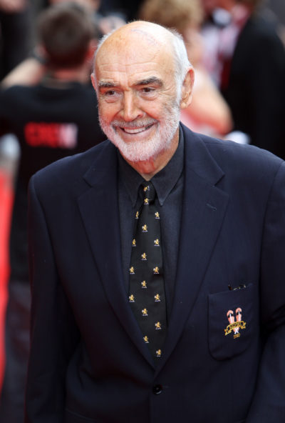 Sean Connery smiling on the red carpet