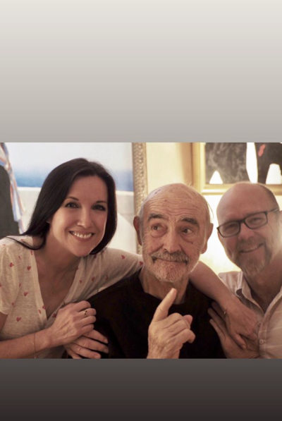 Sean Connery with his daughter in law and son