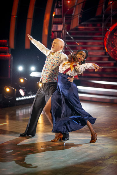 Bill and Oti dancing on Strictly