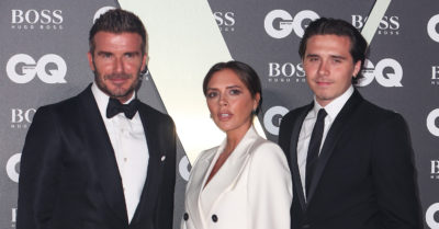 victoria beckham with brooklyn and david beckham