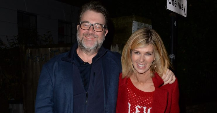 Kate Garraway Derek Draper at Christmas party