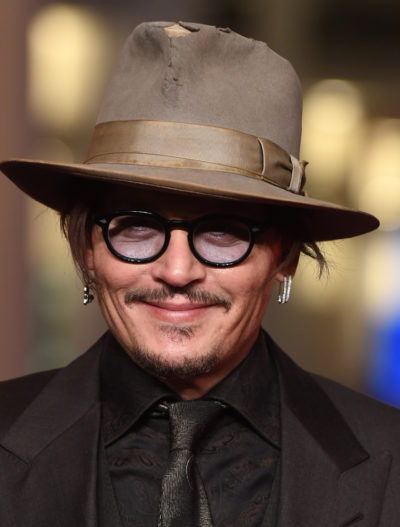 Johnny Depp wears fedora-style hat