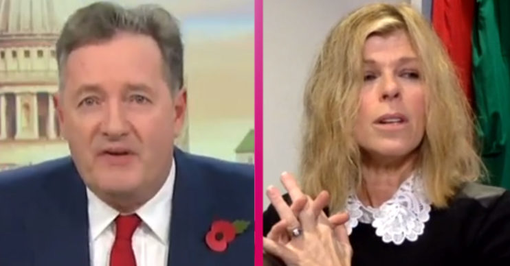 Piers Morgan and Kate Garraway on GMB