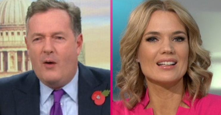 Piers Morgan and Charlotte Hawkins on GMB