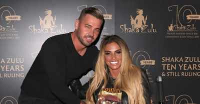 Katie Price and Carl Woods hugging