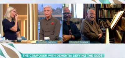 Composer with dementia makes Holly Willoughby cry on This Morning