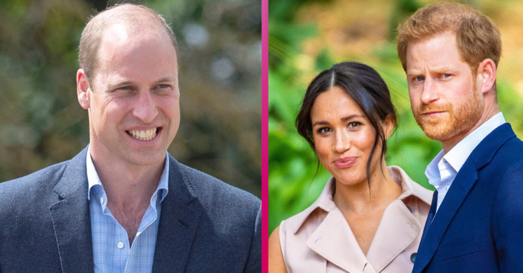 Prince William with Meghan Markle and Prince Harry
