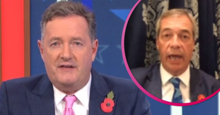 Piers Morgan clashes with Nigel Farage on GMB