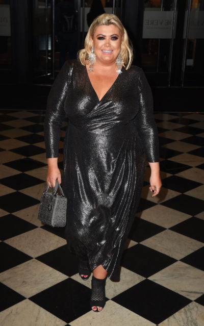 Gemma collins at a party