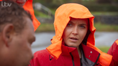 Victoria took part in Don't Rock The Boat with Adam Thomas and Craig Charles (Credit: ITV)
