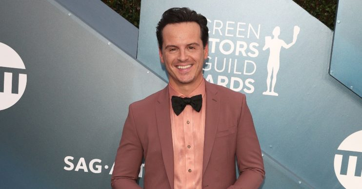 Andrew Scott wears dusty pink suit on red carpet