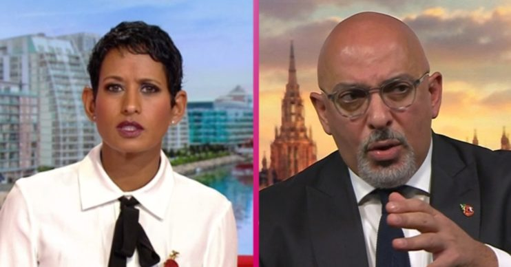 Naga Munchetty and Nadhim Zahawi