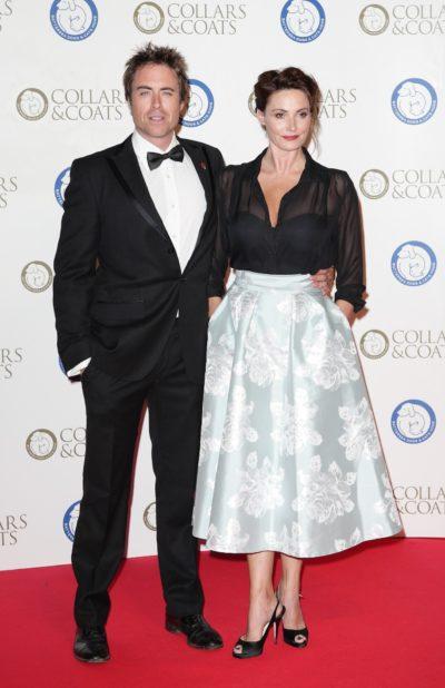 Sarah Parish and husband James Murray on red carpet