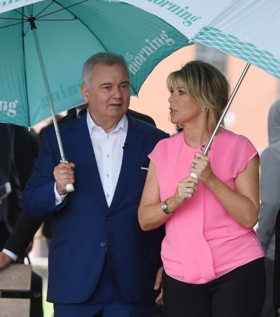 Ruth Langsford And Eamonn Holmes Seen Filming This Morning In London