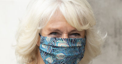 camilla duchess of cornwall wearing a face mask
