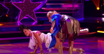 jamie laing drops karen hauer on strictly