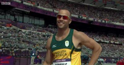 Oscar Pistorius on the track (Credit: BBC iPlayer)