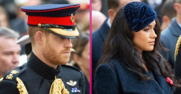 Prince Harry and Meghan Markle at Remembrance day