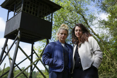 Louisa and her sister Natalie on My Family, The Holocaust and Me with Robert Rinder (Credit: BBC One)