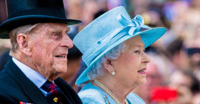 prince philip at the races with the queen