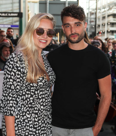 Tom Parker and wife Kelsey at an awards ceremony
