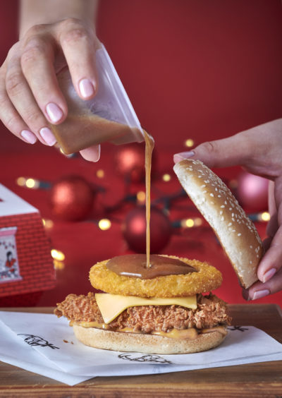 KFC's Christmas meal lifestyle picture