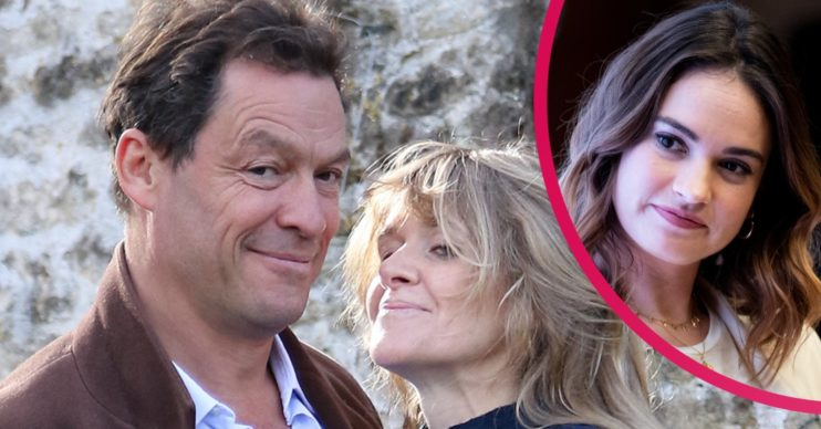 lily james dominic west catherine fitzgerald