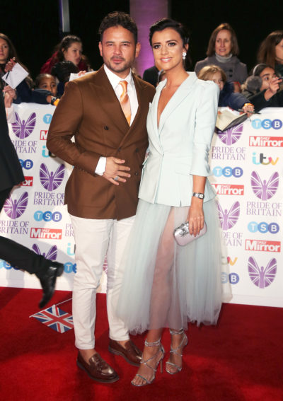 Ryan Thomas and Lucy Mecklenburgh on the red carpet