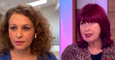 nadia sawalha on loose women with janet street-porter