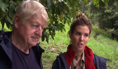 Stanley Johnson and Rebekah Vardy on I'm A Celebrity