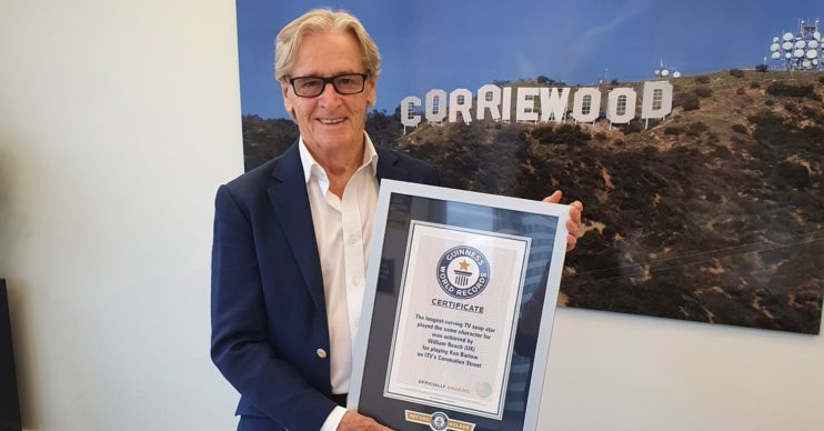 WILLIAM Roache with Guinness World of Records certificate