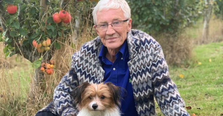 Paul O'Grady and cute dog
