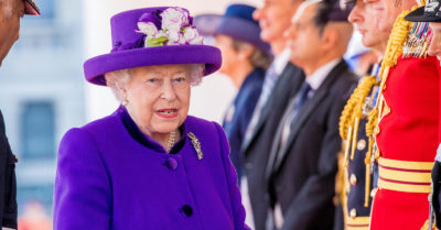 the queen at buckingham palace