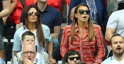 rebekah vardy and coleen rooney at Euro 2016