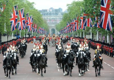 horses on parade to celebrate Queen's Diamond Jubilee