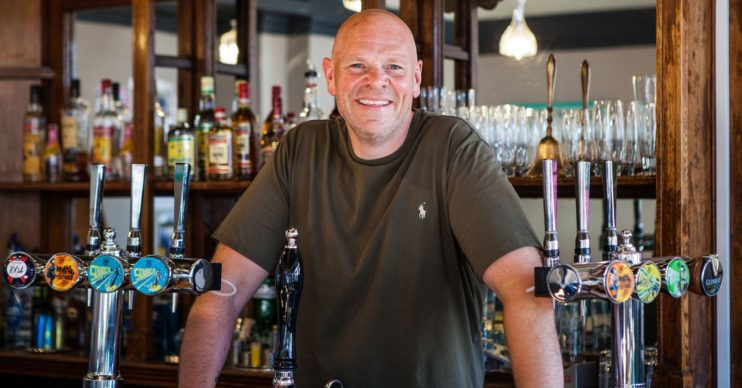 TOM KERRIDGE STANDS IN PUB