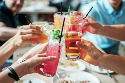 People enjoying cocktails