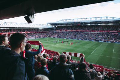 crowds at a football match