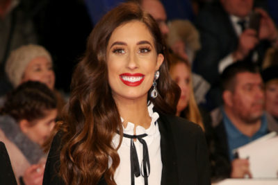 Stacey Solomon on the red carpet