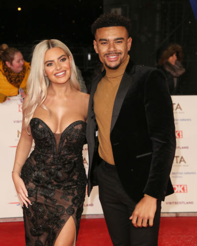 Megan and Wes from Love Island on the red carpet