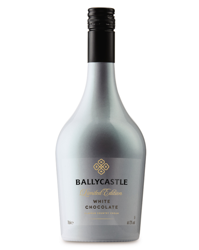 bottle of new white chocolate liqueur from Aldi