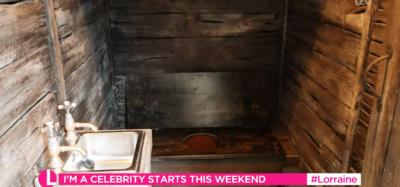 I'm A Celebrity toilet
