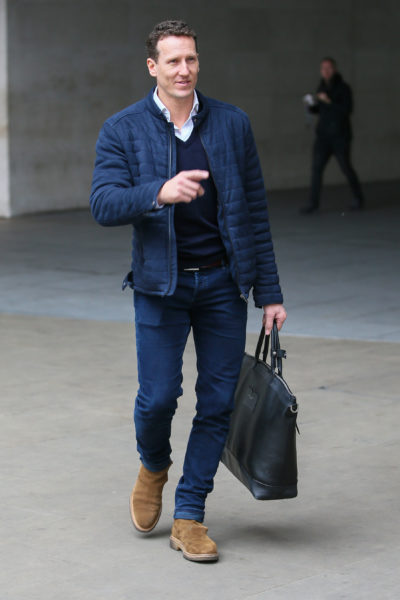 Brendan Cole outside the BBC studios