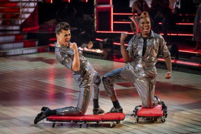 Nicola Adams dancing with Katya Jones on Strictly