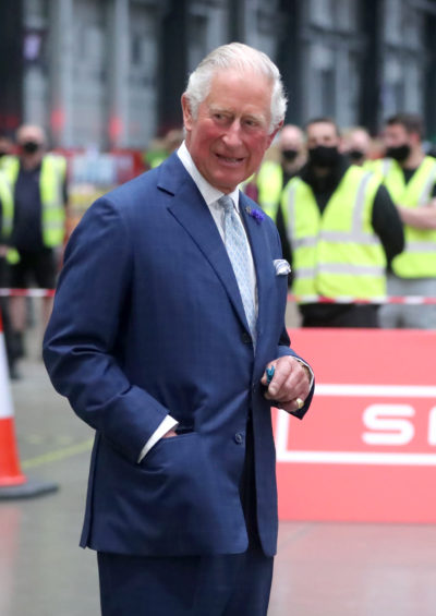 A smiling Prince Charles at an event