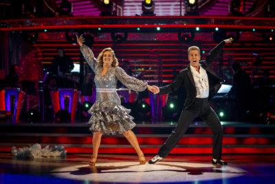 Anton du Beke dancing with Jacqui Smith